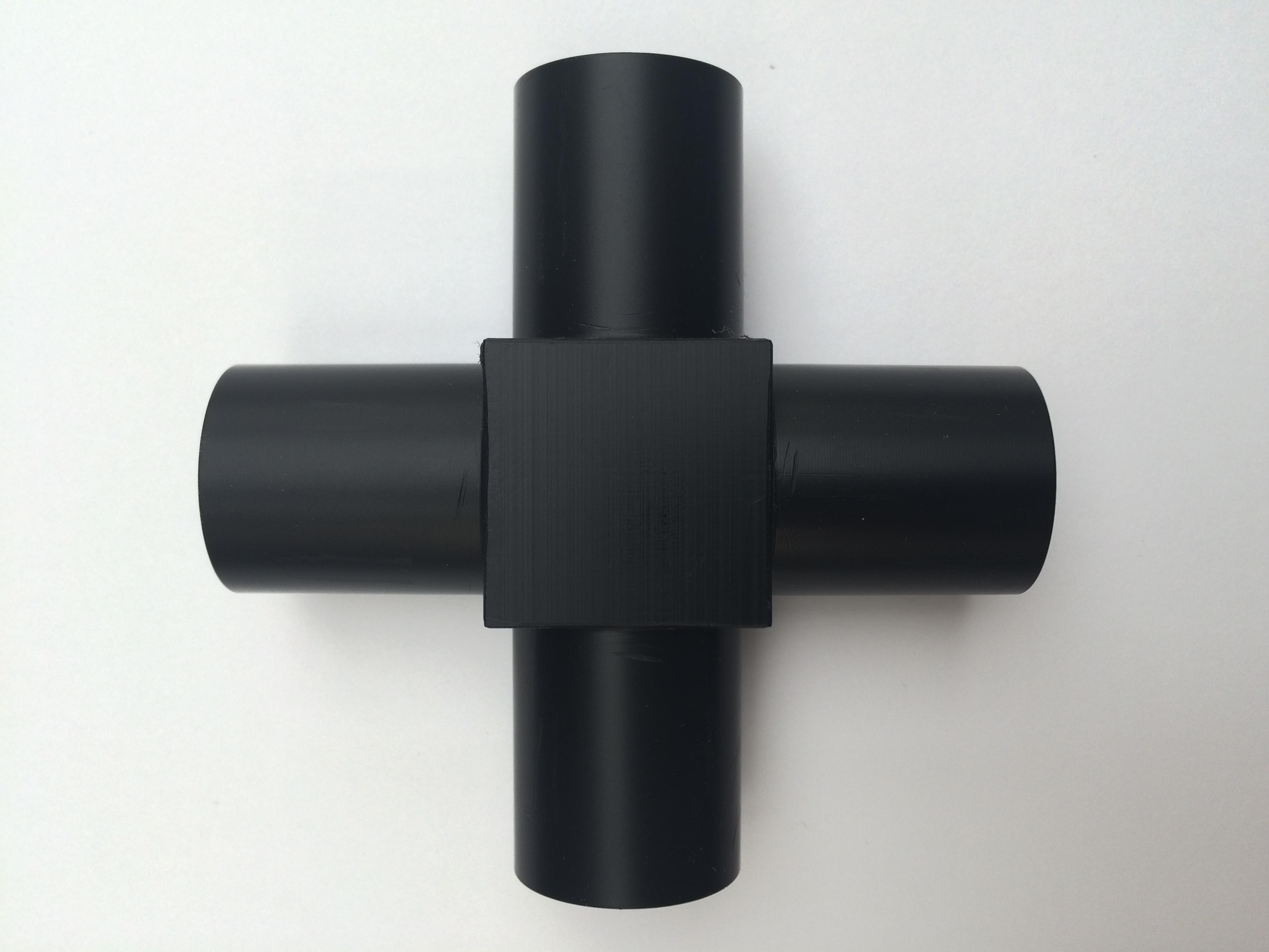 4-Way Connector port (black Delrin) 22/15mm
